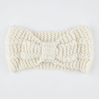 Knotted Sweater Knit Headwrap Ivory One Size For Women 26403516001