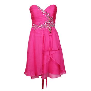 Sweetheart Lace Up Back Dress
