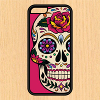 Sugar Skull Version 102 Print Design Art iPhone 4 / 4s / 5 / 5s / 5c /6 / 6s /6+ Apple Samsung Galaxy S3 / S4 / S5 / S6