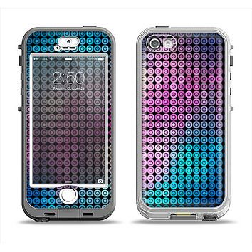 The Vibrant Colored Abstract Cells Apple iPhone 5-5s LifeProof Nuud Case Skin Set