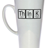 Think Periodic Table of Elements Coffee or Tea Mug, Latte Size