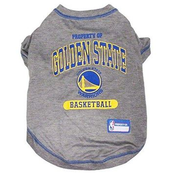 Pets First NBA GOLDEN STATE WARRIORS Dog T-Shirt, Large