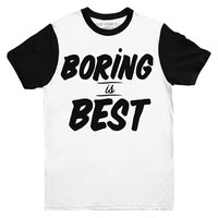 Boring is Best Two Tone Tee