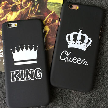 KING Queen iPhone 5s 5se 6 6s Plus Case Best Solid Cover + Gift Box 391