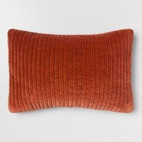 Quilted Velvet Oblong Throw Pillow - Threshold™