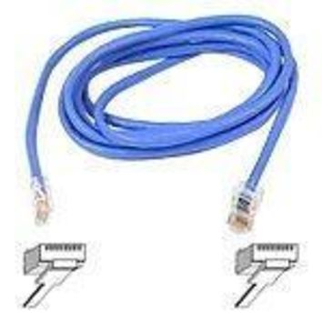 Belkin Components 5ft Cat5e Patch Cable, Utp, Blue Pvc Jacket, 24awg, T568b, 50 Micron, Gold Plate