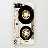 Classic retro transparent cassette tape iPhone 4 4s 5 5c, ipod, ipad, tshirt, mugs and pillow case iPhone & iPod Case by Three Second