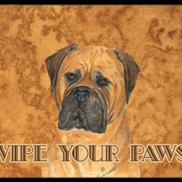 "Caroline's Treasures Bullmastiff Wipe Your Paws Indoor or Outdoor Mat, 18"" x 27"", Multicolor"