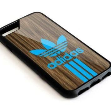 TL-Adidas Wood Texture iPhone 5 5s 5c 6 6s 7 Plus SE Hard Plastic Case