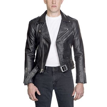 Bonded By Blood - Straight To Hell X Actual Pain - Black Leather Jacket For Men