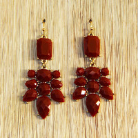 Merlot Chandelier Earrings