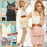 Rakuten: Available in 2 types!Lace or chiffon peplum dress set- Shopping Japanese products from Japan