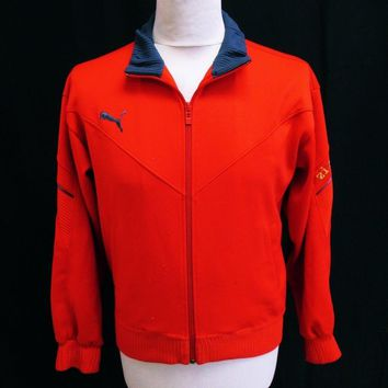 vintage puma red tracktop jacket small  number 1