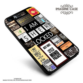 i am sher locked tokokutokomu case cover for iphone, ipod, ipad and galaxy series