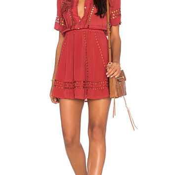Tularosa Tilly Dress in Rusted Cherry