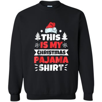 This is My Christmas Pajama Santa Boys Funny Xmas Printed Crewneck Pullover Sweatshirt