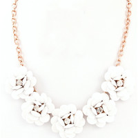 Flower Necklace Medium White : Cute Aprons - Cute Holiday Dresses - Cute Maxi Skirts - Cute Christmas Gifts - Daisy Shoppe