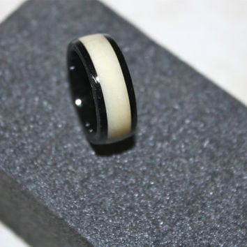 Mens wedding band, wood wedding band, tagua nut ring, Ebony ring, limited edition