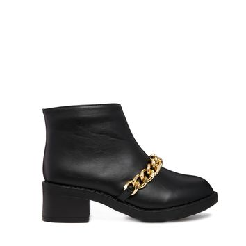 Truffle Chain Detail Ankle Boots