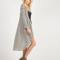 Diamond Striped Long Cardigan - Small