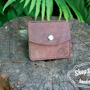Minimalist wallet / Calfskin Leather / Summer Small Wallet /  Mens Leather Wallet / Card wallet / Simple Wallet
