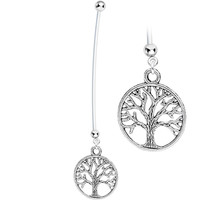 Tree of Life Pregnant Belly Ring | Body Candy Body Jewelry
