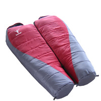 Outdoor Camping Hollow Fiber Double Layers Adult Sleeping Bag Winter Folding Thermal Warm Sleeping Bag Mummy Style+a Storage Bag