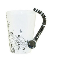 Music Clarinet Note Mug Ceramic cup Coffee Tea Mug Musical Items Drinkware Mugs Great Gift
