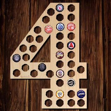 Number Four Beer Cap Map