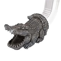 SheilaShrubs.com: Swamp Alligator Gutter Guardian Downspout Sculpture QM7512080 by Design Toscano: Garden Sculptures & Statues
