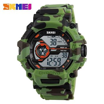 SKMEI G Style Fashion Men Sports Camo Watches Multifunction LED Digital Wristwatches Shock Waterproof Outdoor Camouflage Watch