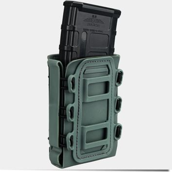 TMC 5.56mm 7.62mm Molle Pistol Mag Tactical Magazine Pouch Holster Fastmag airsoft belt clip plastic 2777