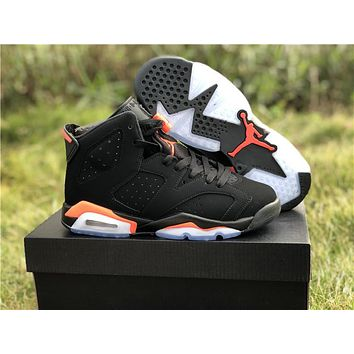 "2019 Air Jordan 6 VI Retro ""Black Infrared"" 3M Men Women Sneaker Shoe Size US 5.5-13"