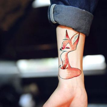 Waterproof Temporary Tattoo cute squirrel fox dog animal tatto stickers flash tatoo fake tattoos for girl women lady