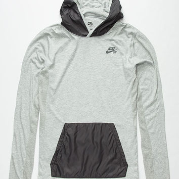 Nike Sb Skyline Dri-Fit Mens Lightweight Hoodie Dark Grey  In Sizes