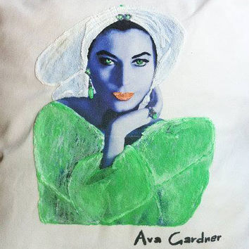 AVA GARDNER PAINTED Retro Tshirt