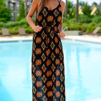 Tribal Elegance Maxi, Black