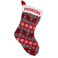 Nebraska Cornhuskers Knit Holiday Stocking - 2015