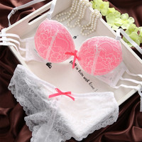 Sexy Women's Set Lace Lingerie Underwear Push-Up Padded Bra