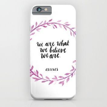 CS Lewis Quote iPhone & iPod Case by Pineandpapyrus