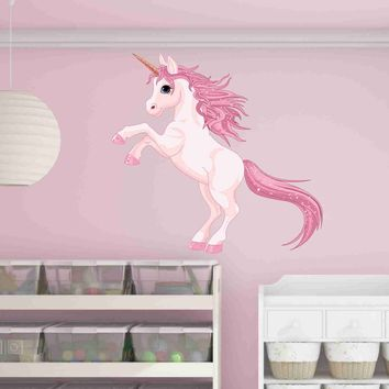 Pretty Pink Unicorn Wall Decal