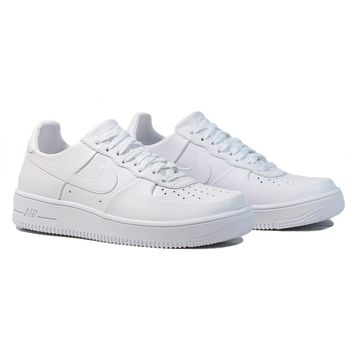 AUGUAU NIKE Air Force 1 Ultra LTHR - White/White-White