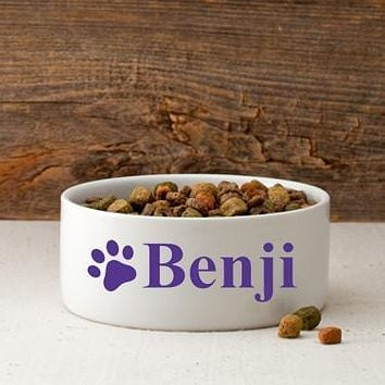 Personalized Small Dog Bowl - Happy Paws