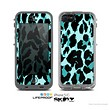 The Vector Hot Turquoise Cheetah Print Skin for the Apple iPhone 5c LifeProof Case