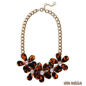 Flowers in Bloom - Our Tortoise Shell color Necklace - Get the matching Bracelet too