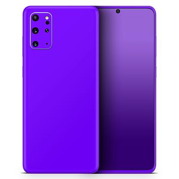 Solid Purple - Skin-Kit for the Samsung Galaxy S-Series S20, S20 Plus, S20 Ultra , S10 & others (All Galaxy Devices Available)
