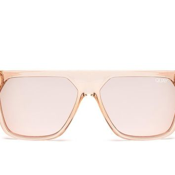 Quay Jaclyn Hill #QUAYXJACLYN Very Busy Champagne Sunglasses / Rose Lenses