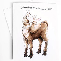 Llama Card, Mother's Day Card, Father's Day Card, Baby Card, I Love You, Funny Greeting Card