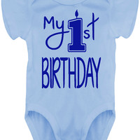 Baby Boy My 1st Birthday Bodysuit