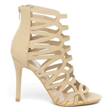 JULIANNA CUT OUT HEEL - CAMEL